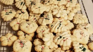 Day 9: Spritz Cookies, an experiment