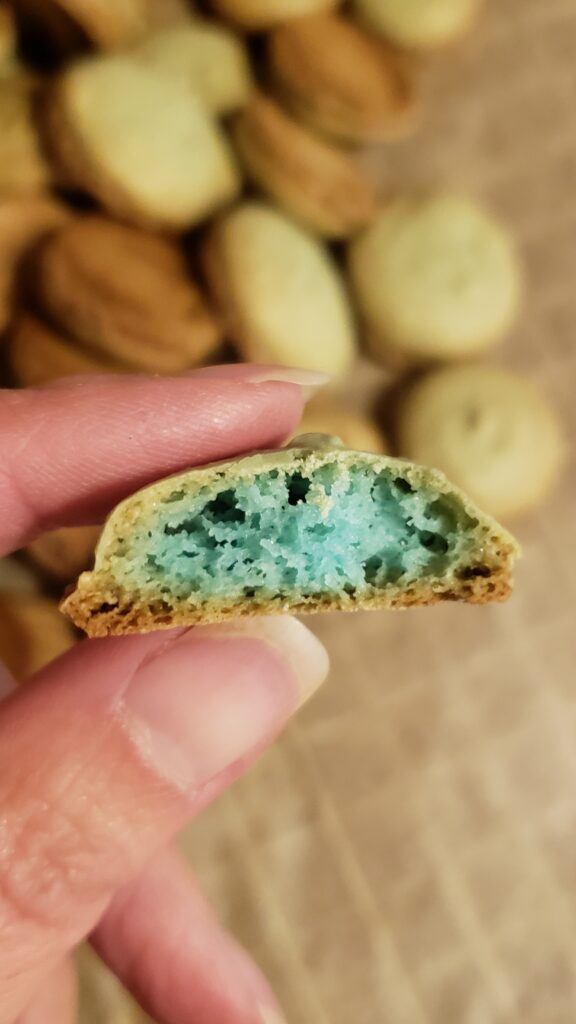 showing the interior of macaron